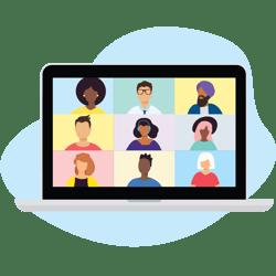 HR - Video Call on laptop - W