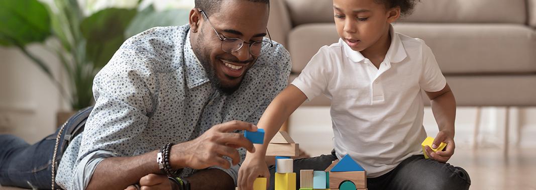 Blog-Dad and child building together